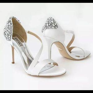 Badgley Mischka Pauline wedding heels